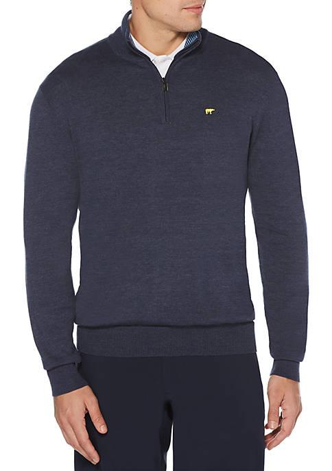 1/4 Zip Long Sleeve Golf Sweater
