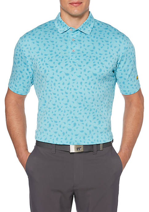 JACK NICKLAUS Mens Allover Paisley Print Short Sleeve