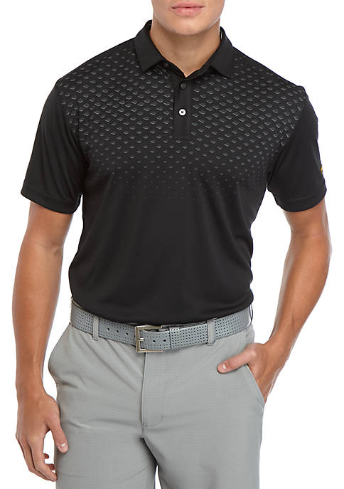 JACK NICKLAUS Mens Short Sleeve Argyle Chest Polo