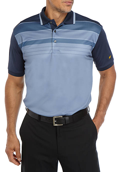 JACK NICKLAUS Mens Short Sleeve Stacked Chest Polo
