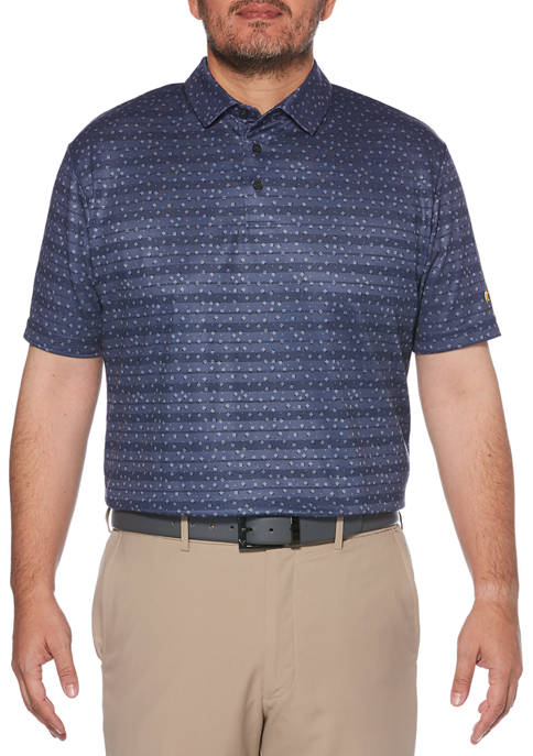 JACK NICKLAUS Mens Short Sleeve Geometric Polo Shirt