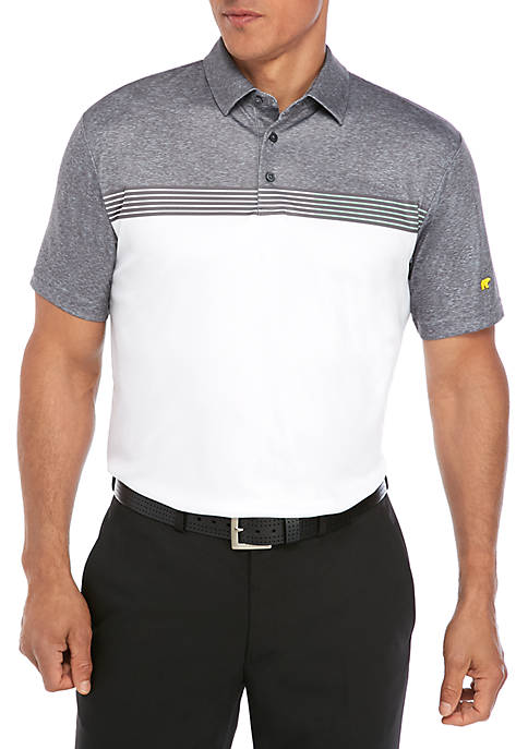 JACK NICKLAUS Short Sleeve Stacked Print Polo Shirt