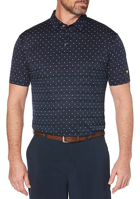 JACK NICKLAUS Diamond Allover Print Short Sleeve Golf