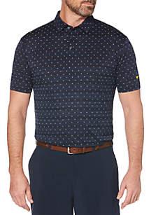 JACK NICKLAUS Diamond Allover Print Short Sleeve Golf Polo Shirt