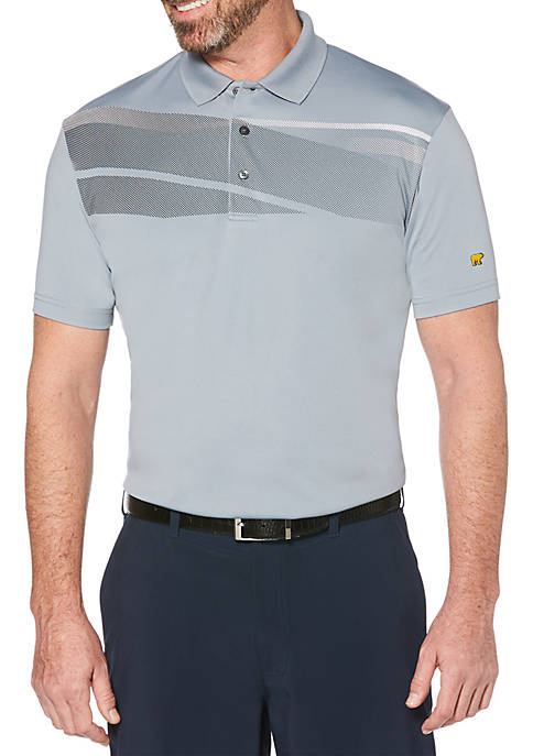 JACK NICKLAUS Short Sleeve Chest Fusion Polo