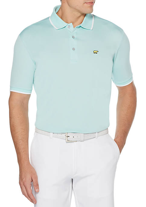 JACK NICKLAUS Solid Short Sleeve Golf Polo Shirt