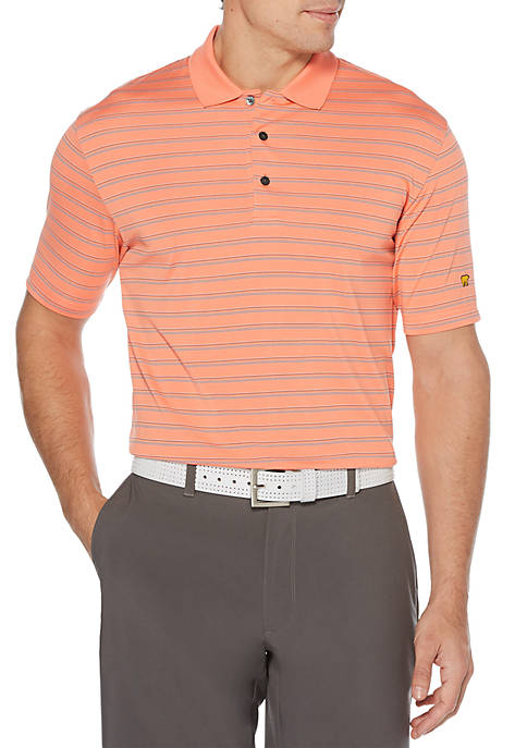 JACK NICKLAUS Three Color Stripe Short Sleeve Golf