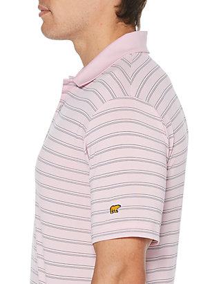 Jack Nicklaus Mens Short Sleeve Three Color Stripe Polo