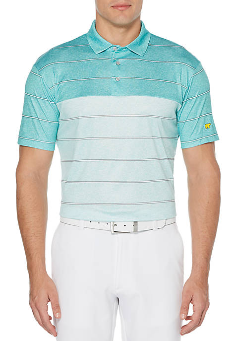 JACK NICKLAUS Stacked Heather Stripe Short Sleeve Golf