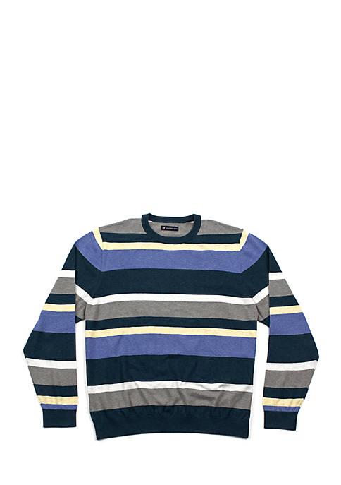 Oxford Belfry Long Sleeve Striped Crew Neck Sweater