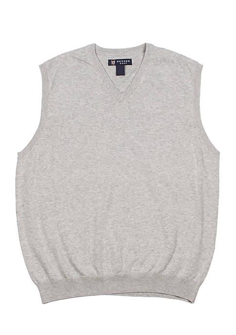 Oxford V-Neck Sweater Vest