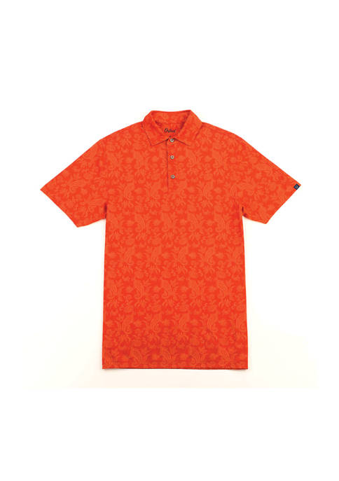 Alfred Paisley Print Performance Polo Shirt