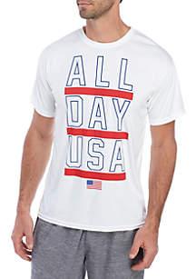 ZELOS Short Sleeve National Graphic T Shirt