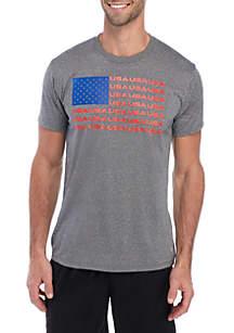 ZELOS Short Sleeve USA Graphic T Shirt