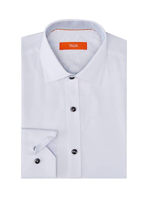 Solid Performance Stretch Slim Fit Dress Shirt