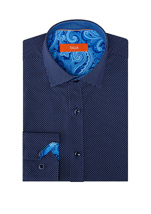 Long Sleeve Slim Performance Button Up Shirt