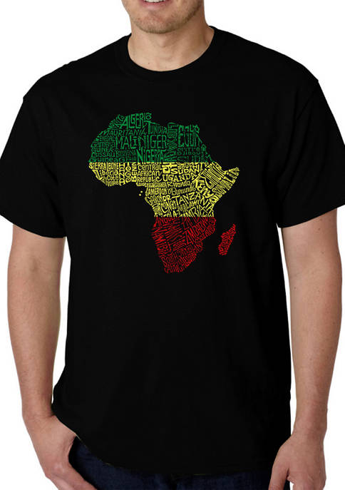 Word Art T-Shirt - Countries in Africa