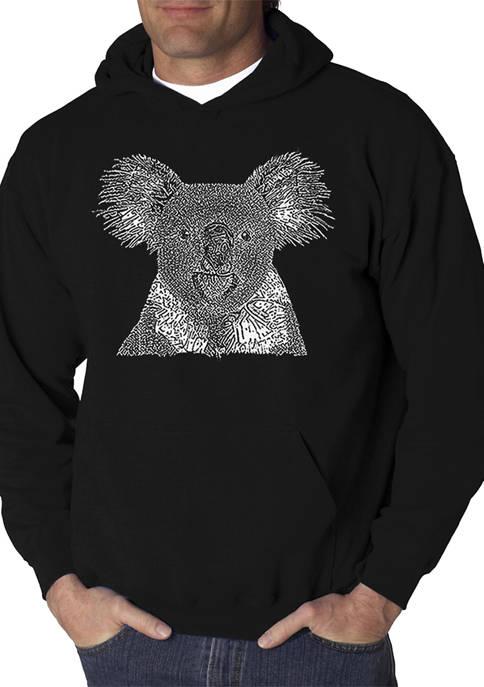 Word Art Hooded Sweatshirt - Koala
