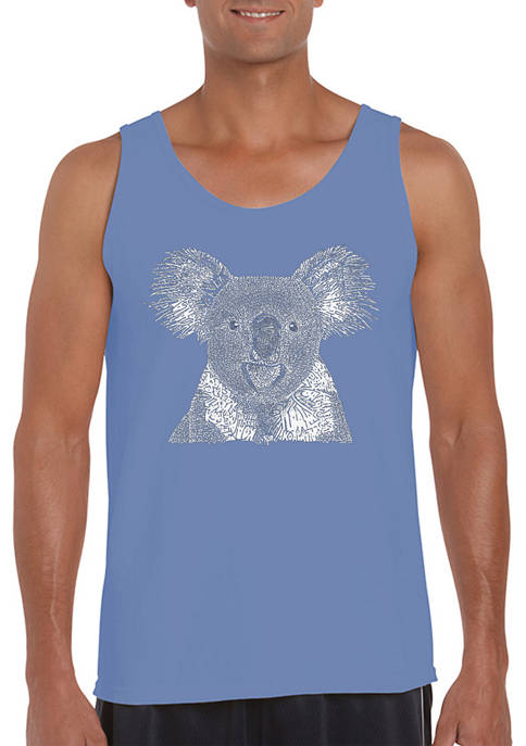 Word Art Tank Top - Koala