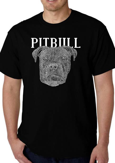 Word Art T-Shirt - Pitbull Face