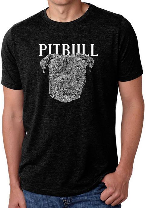 Raglan Baseball Word Art T-Shirt - Pitbull Face