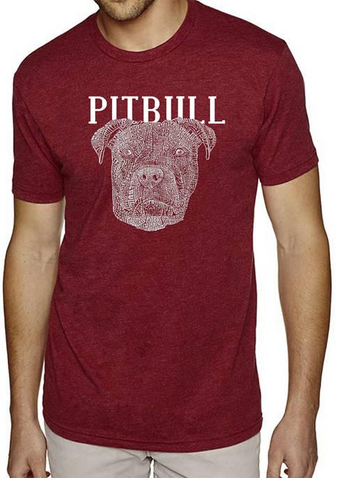 Premium Blend Word Art T-Shirt - Pitbull Face
