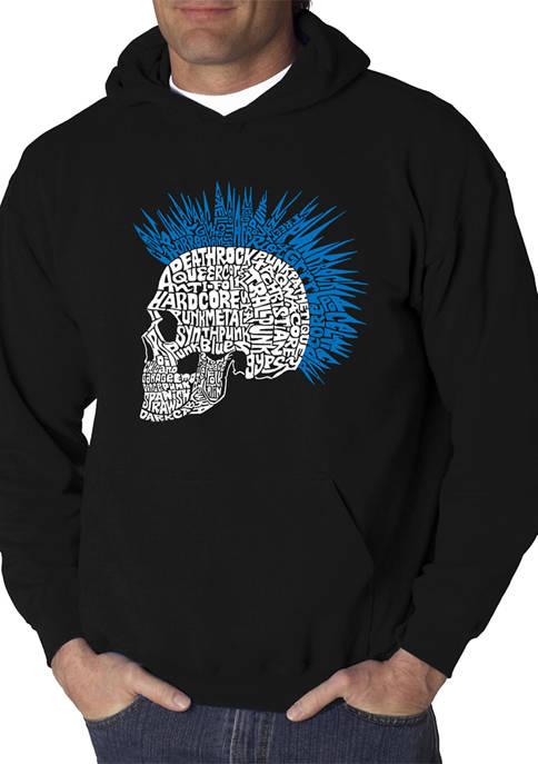 Word Art Hooded Sweatshirt - Punk Mohawk