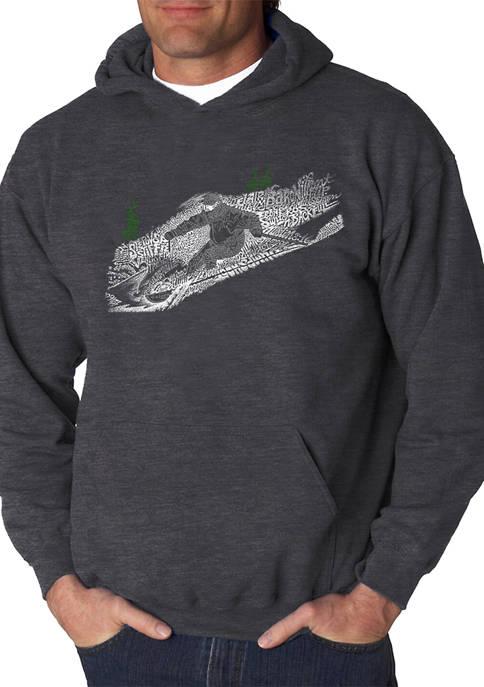 Word Art Hooded Sweatshirt - Ski