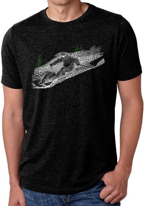 Premium Blend Word Art T-Shirt - Ski