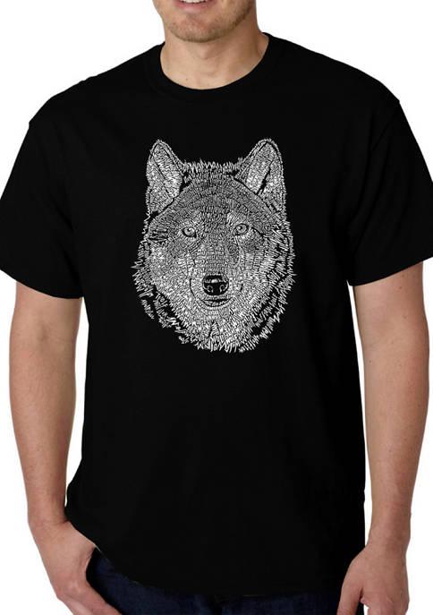 Word Art T-Shirt - Wolf