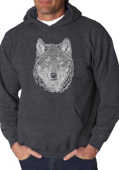 Word Art Hooded Sweatshirt - Wolf
