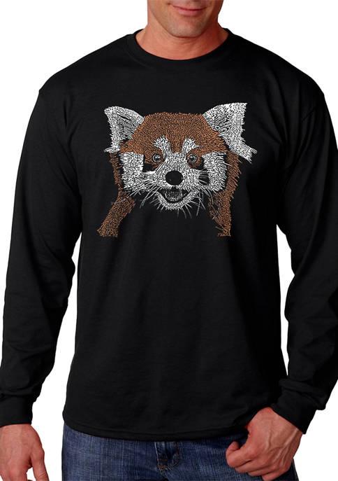 Word Art Long Sleeve T-Shirt - Red Panda