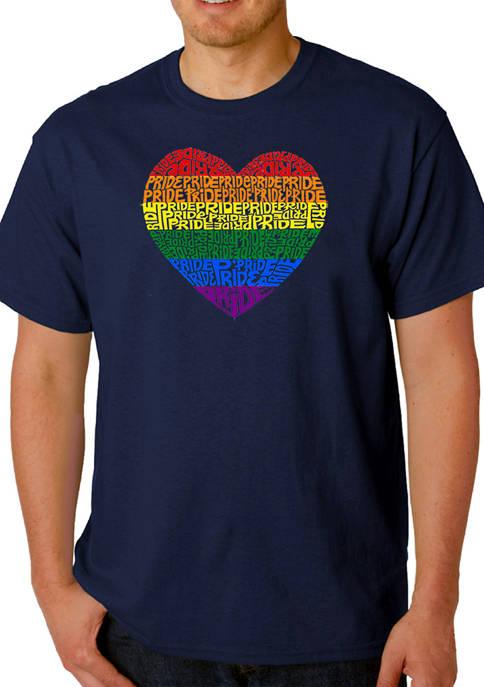 Word Art Graphic T-Shirt - Pride Heart