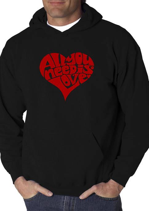 LA Pop Art Word Art Hooded Graphic Sweatshirt