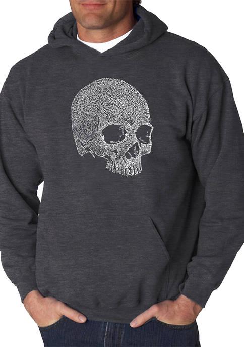 Word Art Hooded Graphic Sweatshirt - Dead Inside Skull