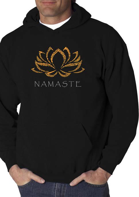 Word Art Hooded Graphic Sweatshirt - Namaste