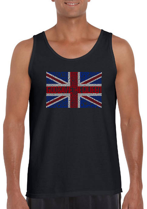 Word Art Tank Top - God Save The Queen