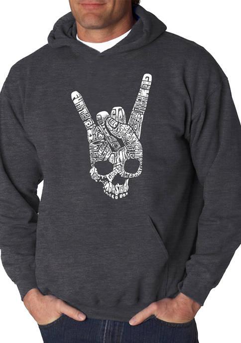 Word Art Hooded Sweatshirt - Heavy Metal Genres