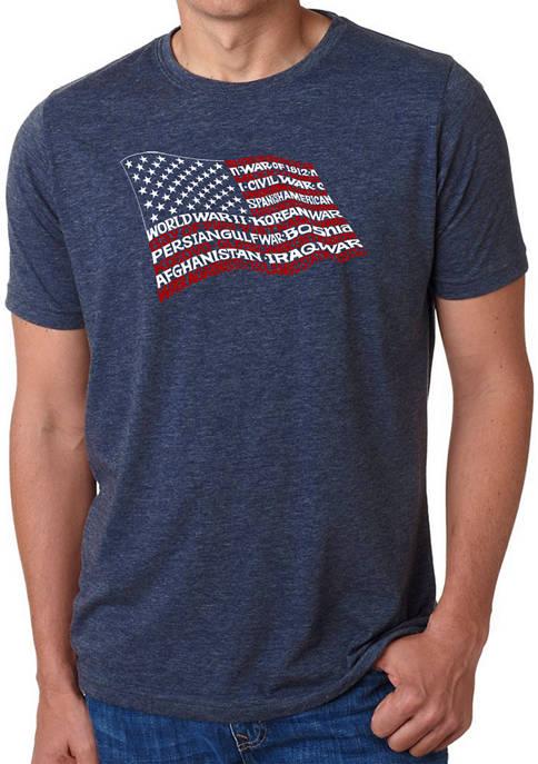 LA Pop Art Premium Blend Word Art T-Shirt