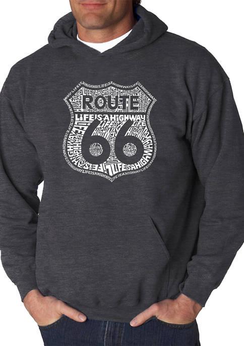 Word Art Hooded Sweatshirt - Route 66 - Life is a Highway
