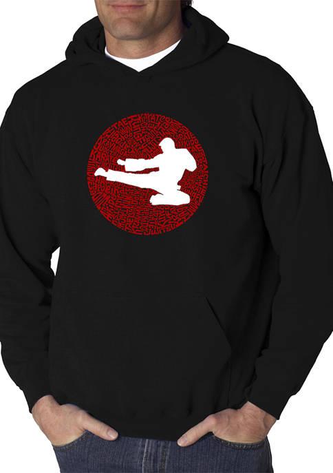 Word Art Hooded Sweatshirt -Types of Martial Arts