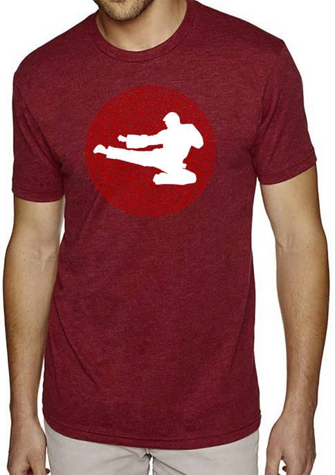 Premium Blend Word Art T-Shirt -Types of Martial Arts