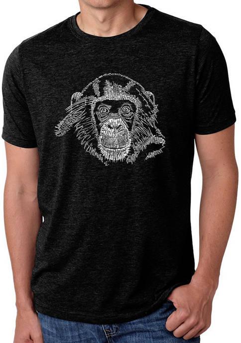 Premium Blend Word Art T-Shirt - Chimpanzee
