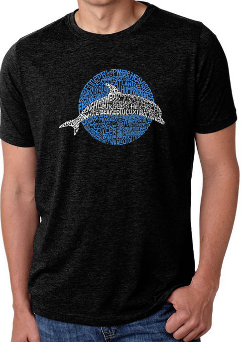 Premium Blend Word Art Graphic T-Shirt - Species of Dolphin