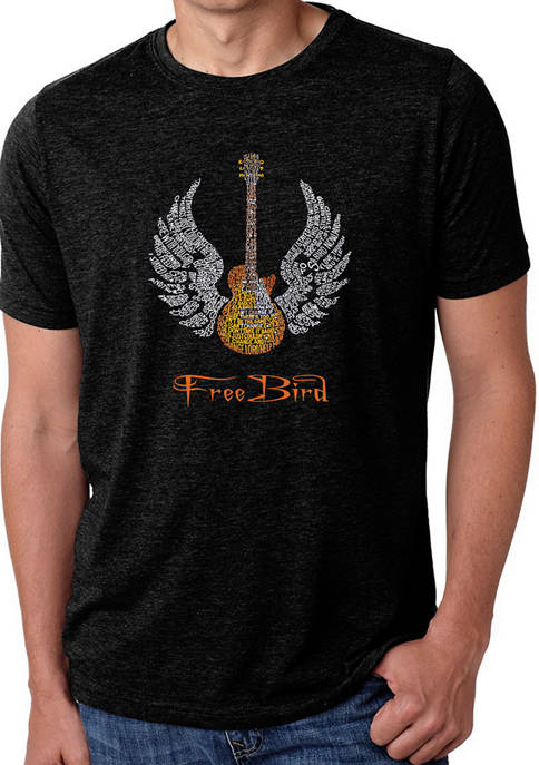 Mens Premium Blend Word Art Graphic T-Shirt - Lyrics To Freebird