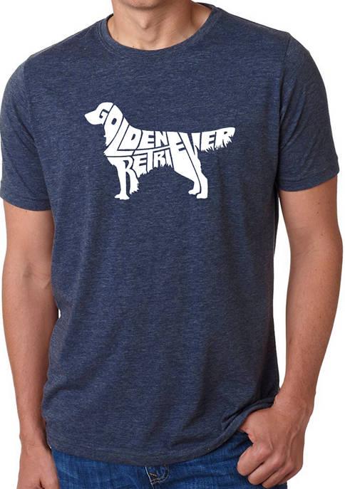 Mens Premium Blend Word Art Graphic T-Shirt - Golden Retriever