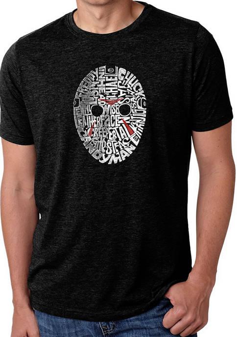 Mens Premium Blend Word Art Graphic T-Shirt - Slasher Movie Villains