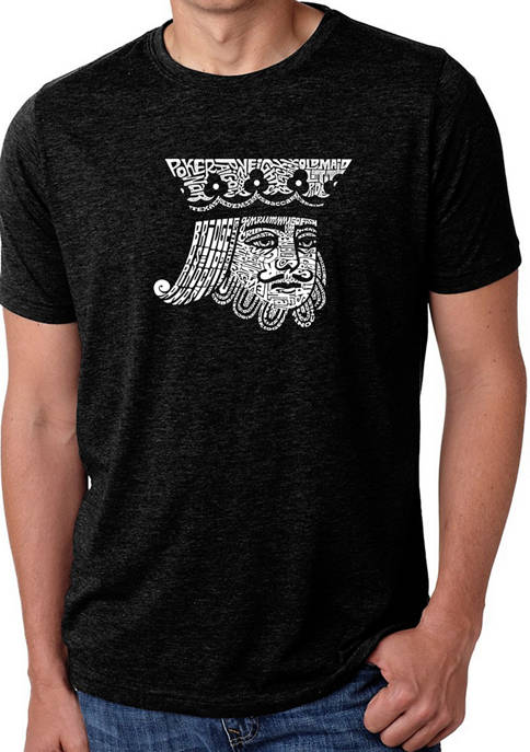 Mens Premium Blend Word Art Graphic T-Shirt - King of Spades