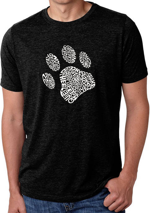 Mens Premium Blend Word Art Graphic T-Shirt - Dog Paw