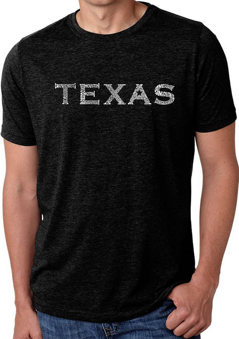 Premium Blend Word Art Graphic T-Shirt - The Great Cities of Texas
